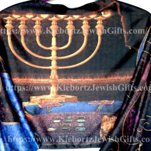 Jewish Tribe Levi Menorah Purple Prayer Shawl